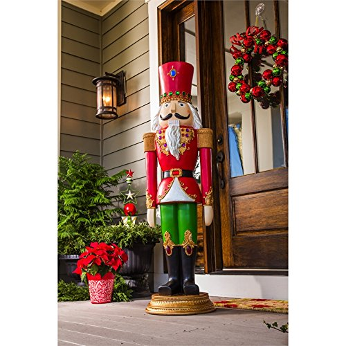 this large outdoor nutcracker statue figurine measures 55 inches