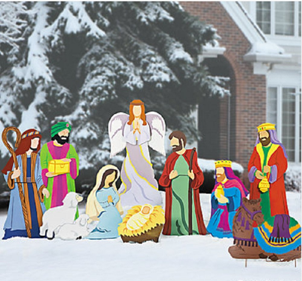 Nativity Scene Outdoor Christmas Decoration: Large Outdoor Nativity Scenes