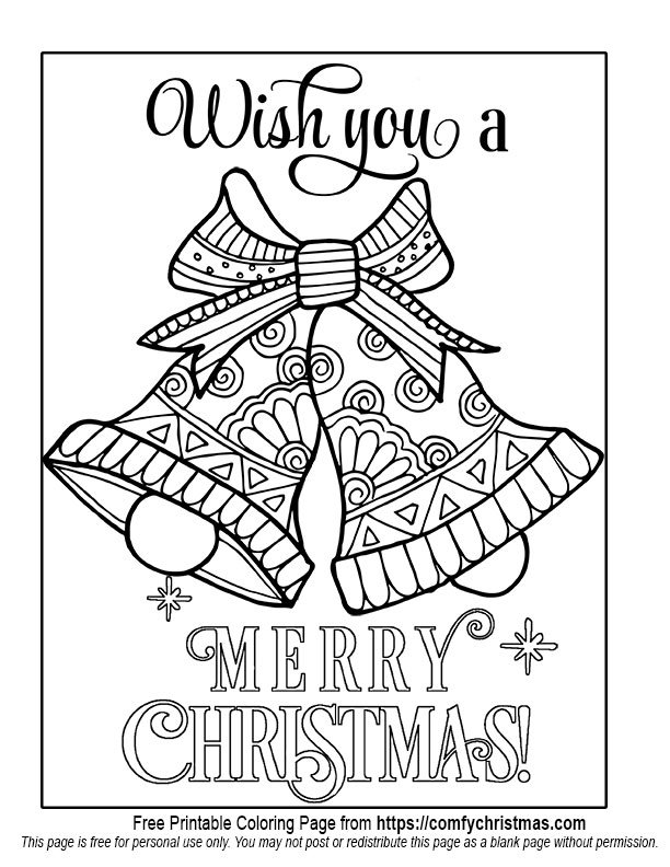 - Free Printable Christmas Coloring Pages • Comfy Christmas