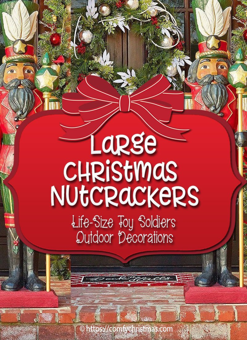 large outdoor nutcracker decoration