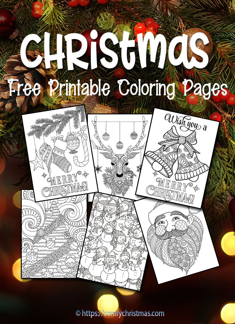 Download Free Printable Christmas Coloring Pages For Adults And Kids Youll Find Plenty