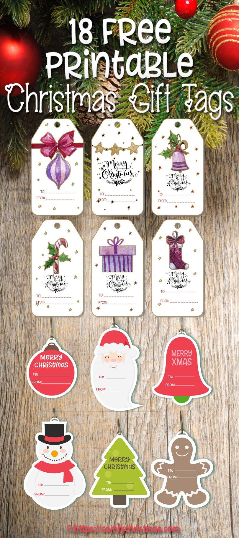Free printable gift tags for christmas comfy christmas free printable gift tags for christmas negle Gallery