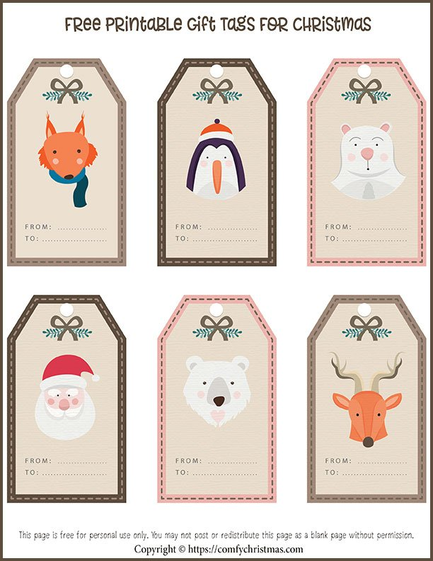 Free printable gift tags for christmas comfy christmas free printable gift tags for christmas negle Gallery