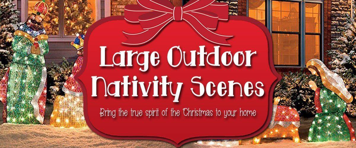 Large Outdoor Nativity Scenes