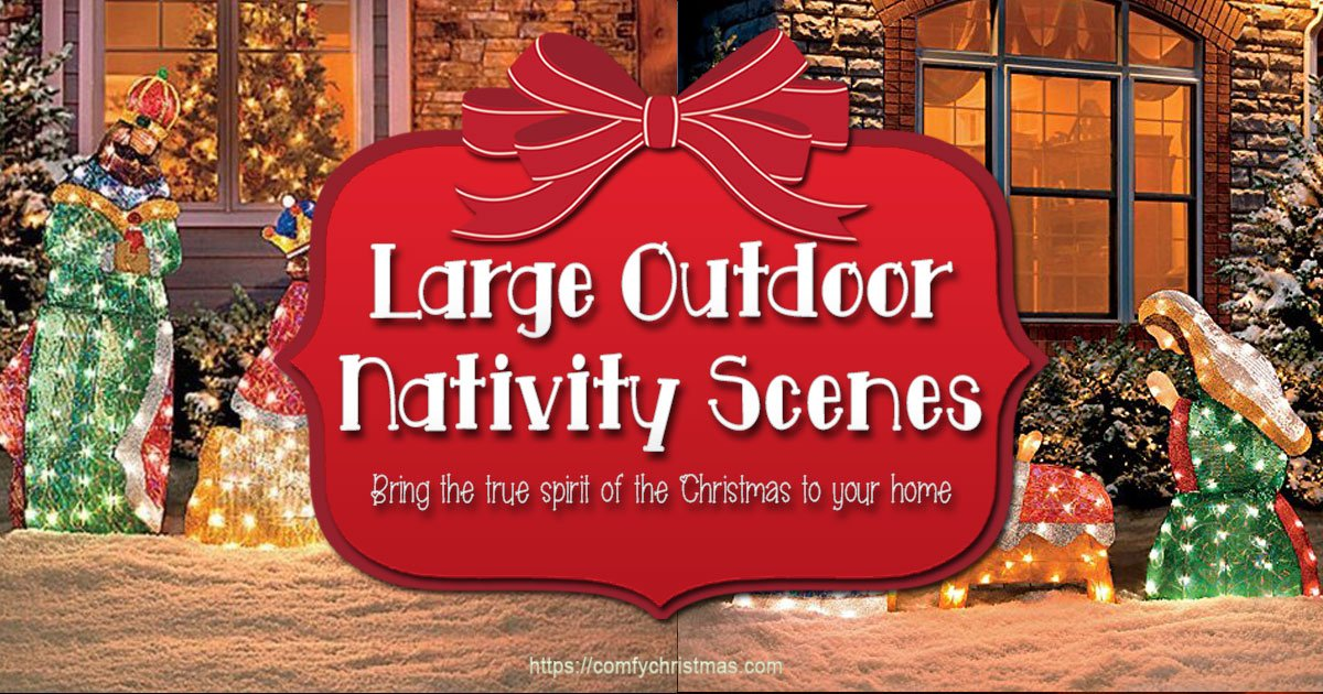 large outdoor nativity scenes bring out true meaning of christmas - Outdoor Christmas Decorations Nativity Scene