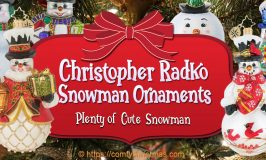 Christopher Radko Snowman Ornament