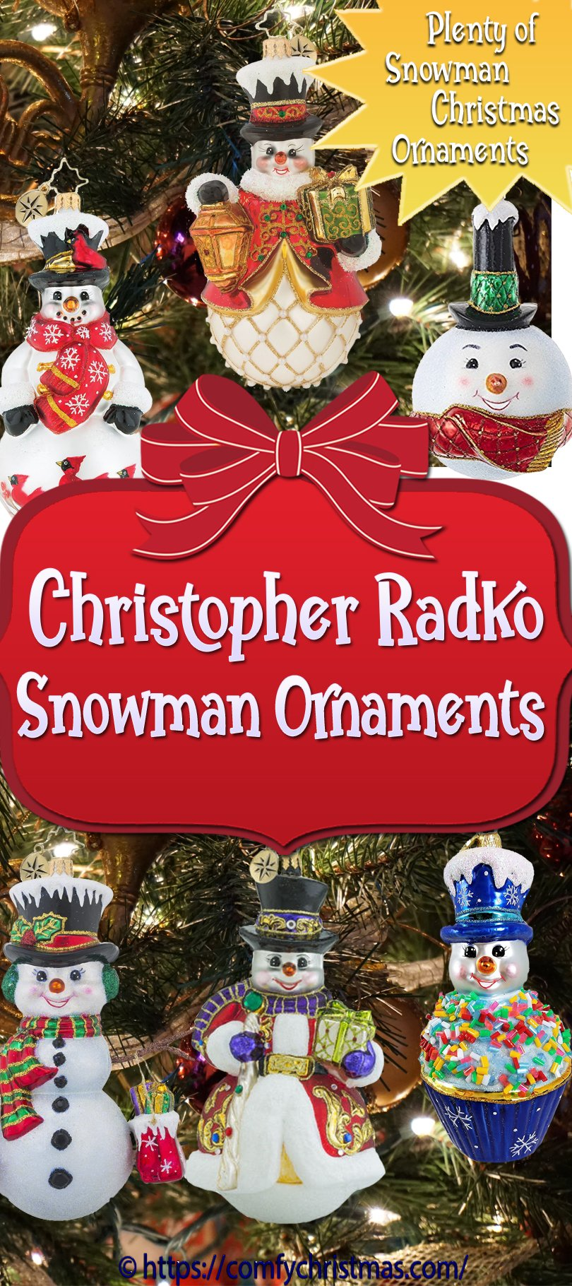 Christopher Radko Snowman Ornament