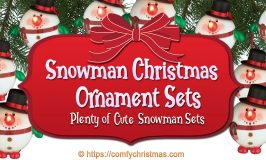 Snowman Christmas Ornament Sets