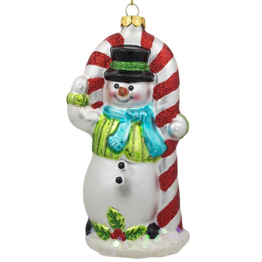 Glass Snowman Christmas Ornaments • Comfy Christmas