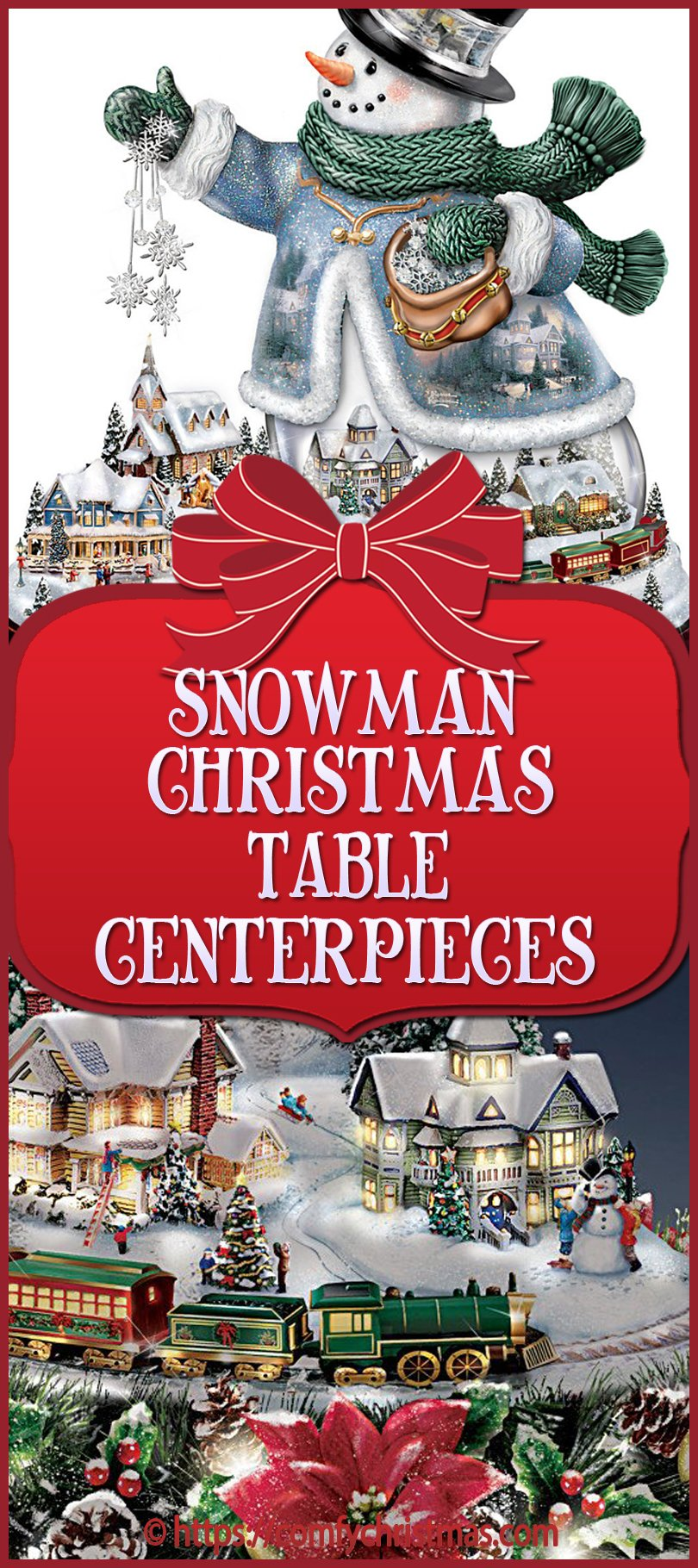 Snowman Table Centerpieces