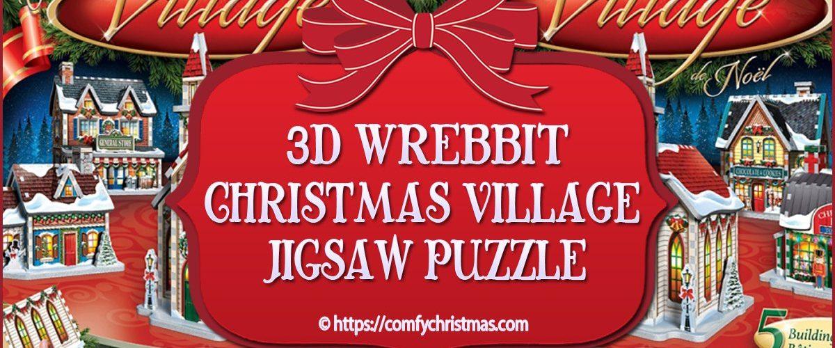 3D Wrebbit Christmas Village Jigsaw Puzzle