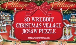 3D Wrebbit Christmas Village Jigsaw Puzzle