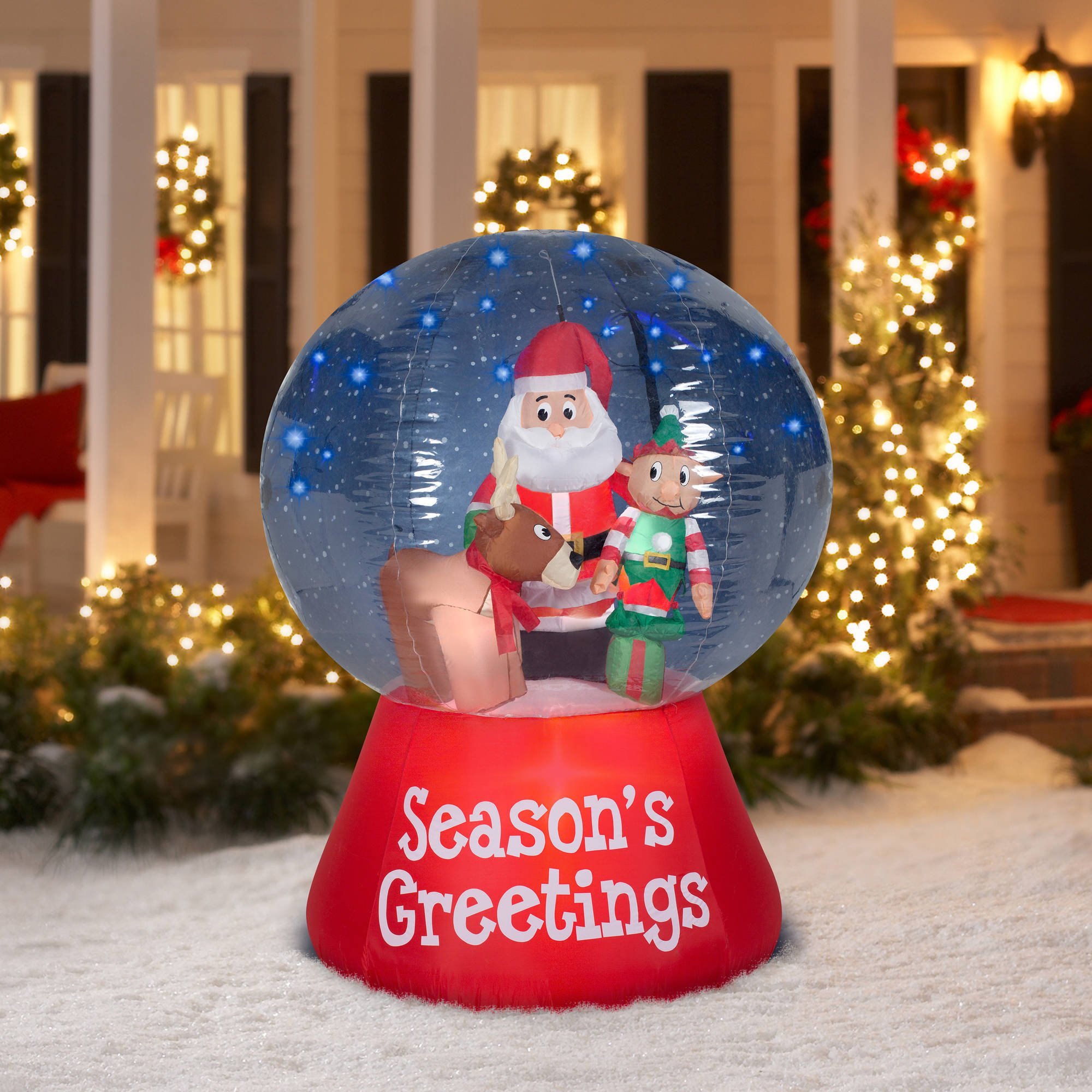 one of the faster selling animated outdoor christmas decorations still remains the large snow globes filled with various scenes - Where To Find Outdoor Christmas Decorations