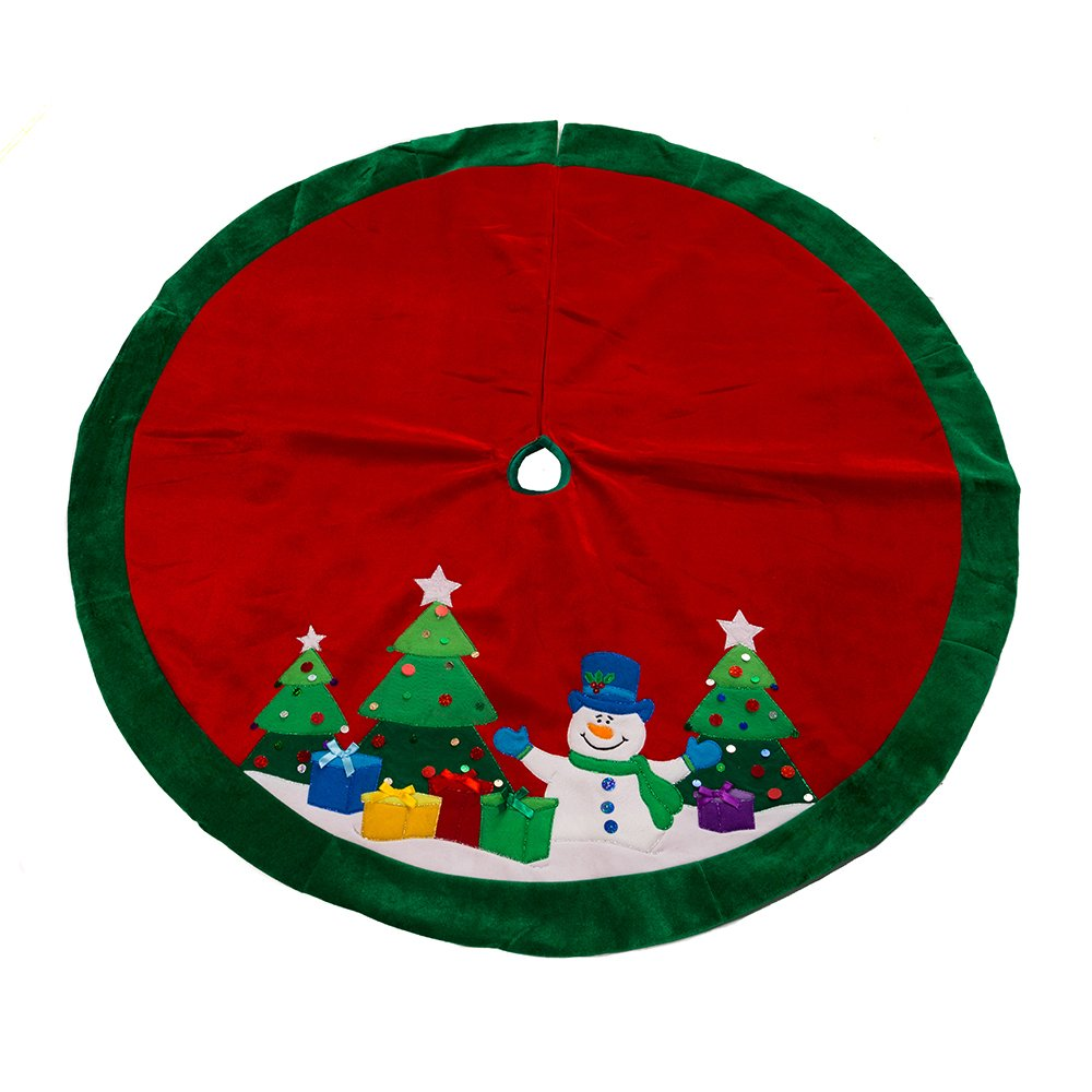 Snowman Christmas Tree Skirt • Comfy Christmas