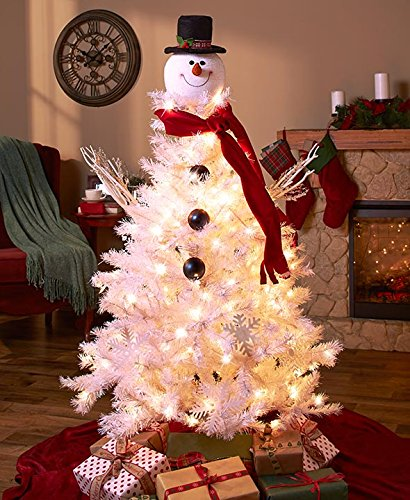 frosty snowman top hat christmas tree topper measures 8 inches by 1150 inches high