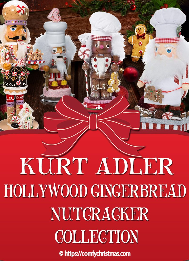 Kurt Adler Hollywood Nutcrackers - Gingerbread & Sweet Nutcrackers