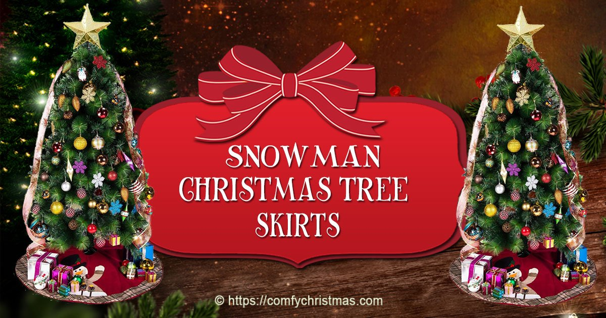 snowman christmas tree skirt comfy christmas