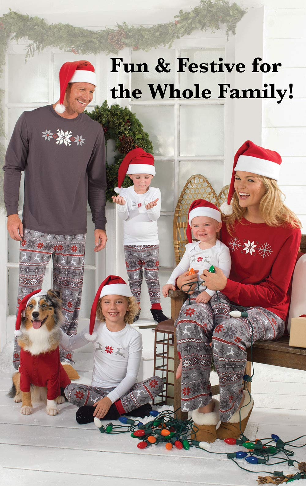 PajamaGram Matching Christmas Pajamas for Family – Blue ... c59937f41