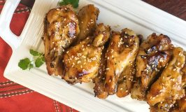 Instant Pot Chicken Wings Recipe displayed on Serving Platter