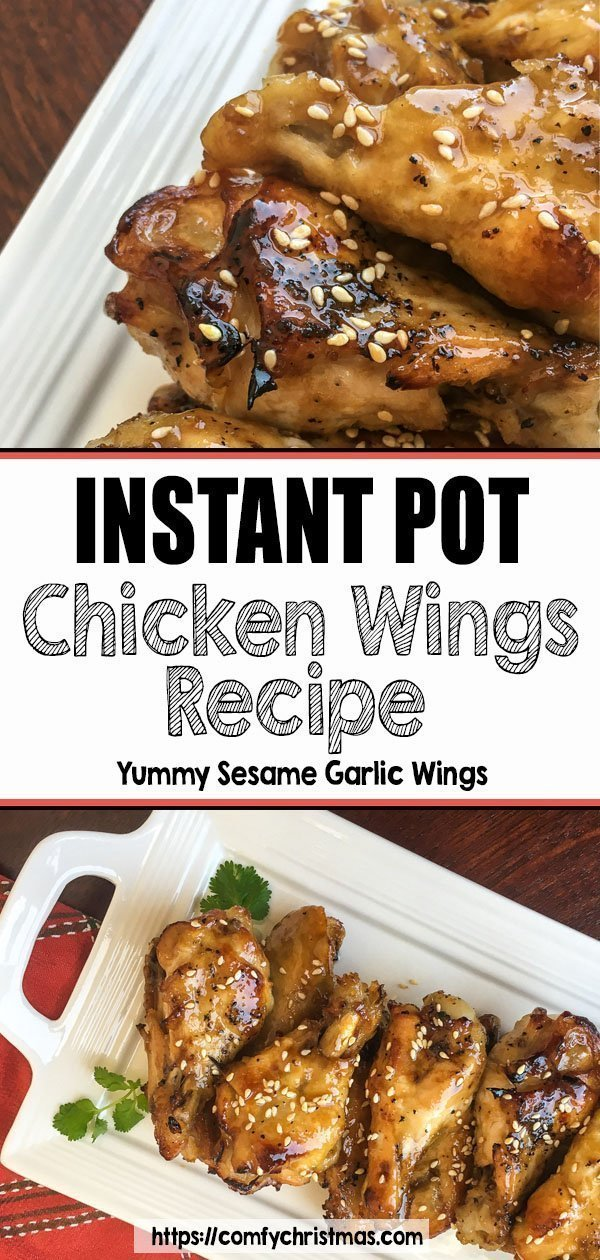 Easy Sesame Chicken Wings made in an Istant Pot