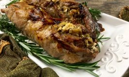 Recipe for apple stuffed pork tenderloin for Christmas Holiday entertaining.
